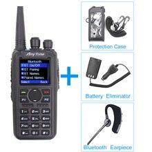 Anytone AT D878UV Plus DMR Radio VHF 136 174MHz UHF 400 470MHz GPS APRS Bluetooth Walkie Talkie Ham Radio Station с кабелем