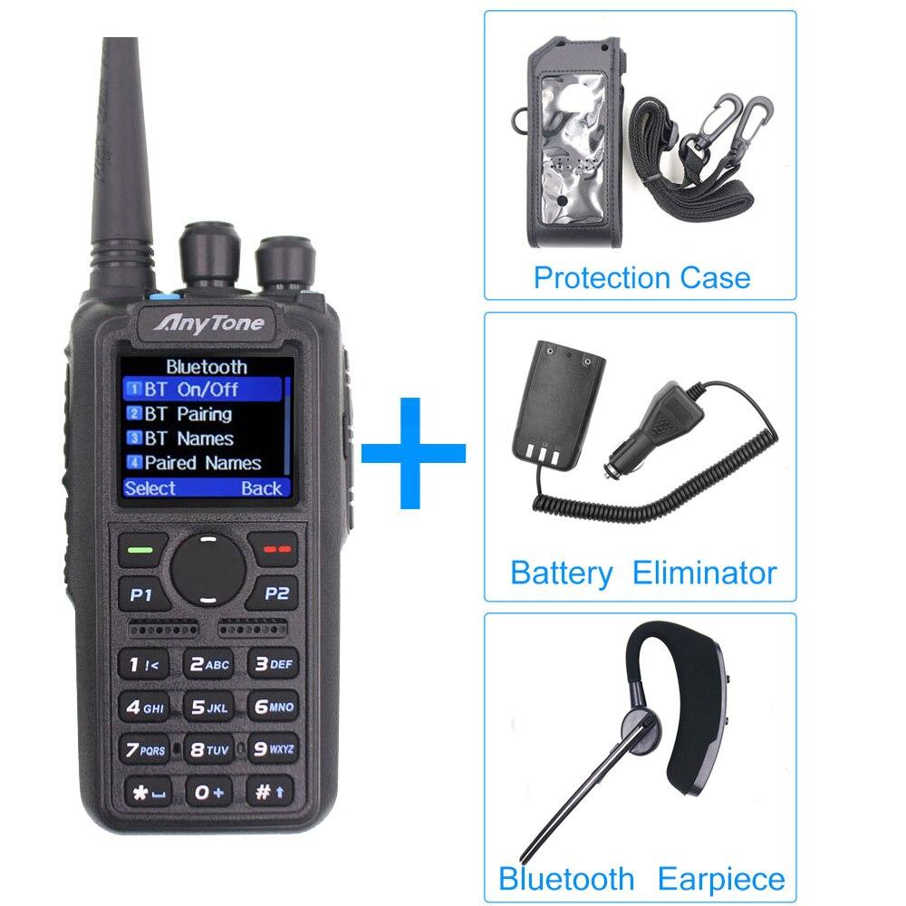 Радиоприемник Anytone AT-D878UV Plus DMR VHF 136-174 МГц UHF 400-470 МГц gps APRS Bluetooth рация Ham радиостанция с кабелем