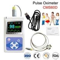 cms60d hand held oled paediatric finger tip pulse oximeter kids blood oxygen spo2 pr hr monitorchildren spo2 probepc software