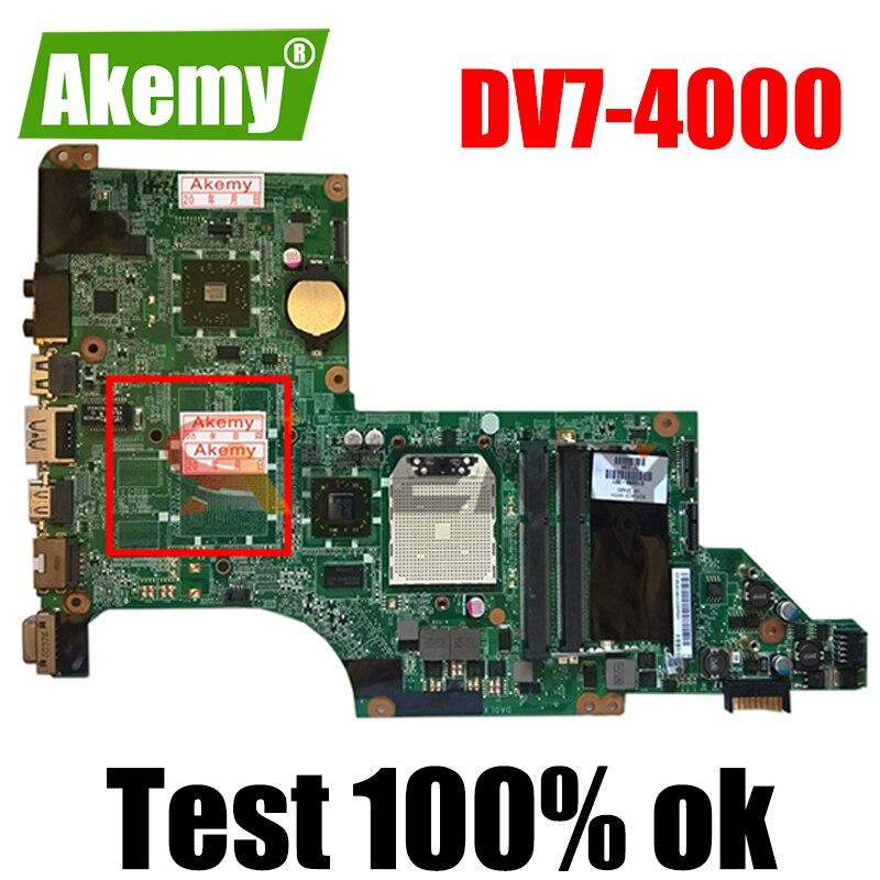 AKemy لوحة الأم للكمبيوتر المحمول HP بافيليون DV7 DV7-4000 اللوحة الرئيسية 605496-001 605496-501 DA0LX8MB6D0