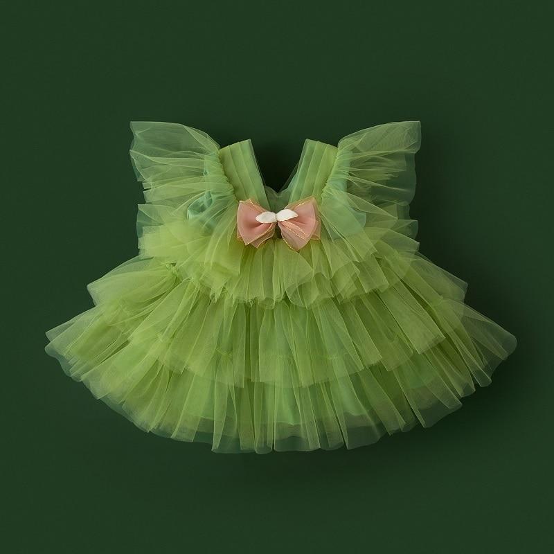فستان للأطفال 1-8 سنة فتاة حفل عيد ميلاد فستان الأميرة لطيف الرسمي حفلة موسيقية فستان 80 سنتيمتر-160 سنتيمتر الارتفاع