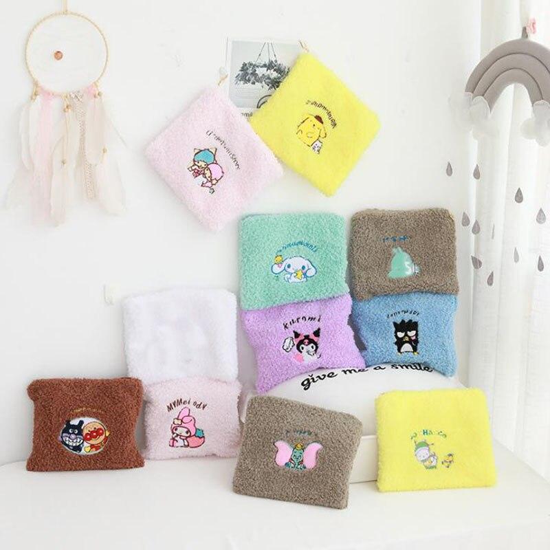 1 шт. мультяшная серия Sanrio My Melody Pudding Cinnamoroll Dog koomi плюшевые косметички Портативная сумка для хранения монет плюшевые игрушки