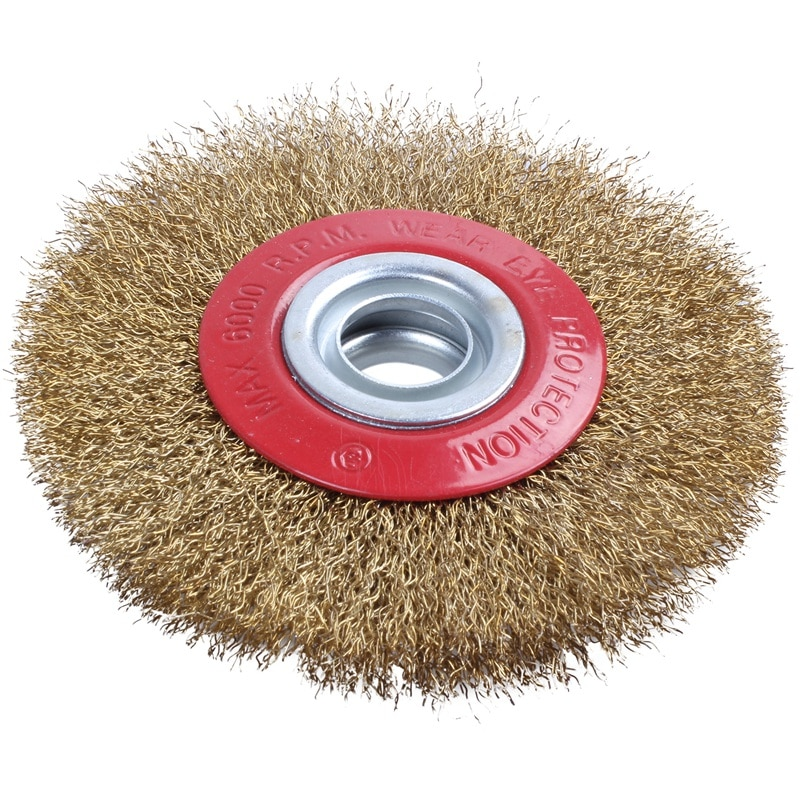 Hot Wire Brush Wheel for Bench Grinder Polish + Reducers Adaptor Rings,5inch 125Mm enlarge