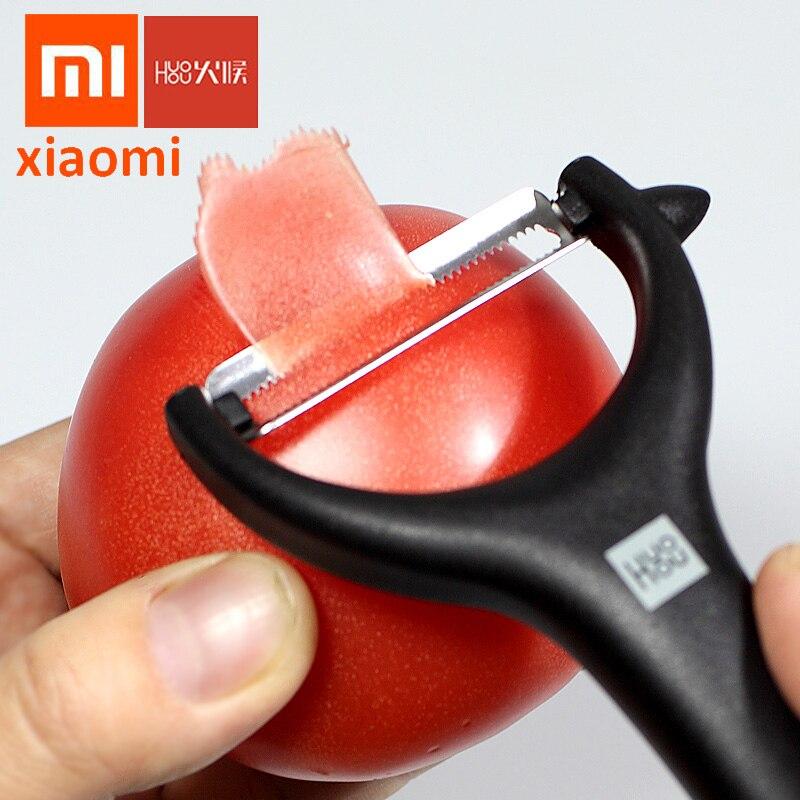 Nuevo 2020 Xiaomi Youpin huohu melón y pelador de frutas pelador de fruta de acero inoxidable multifunción cuchillo de cepillado portátil