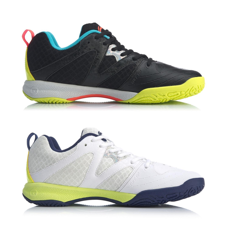 (Перерыв код) Li-Ning Для мужчин бадминтон тренировочные кроссовки из дышащего материала светильник-Вес подкладка стабильный Поддержка Спортивная обувь Кроссовки AYTQ003-1