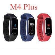 M4/M4Plus podomètre intelligent écran couleur Bracelet intelligent pour la pression artérielle marche pas compteur moniteur de fréquence cardiaque montre unisexe