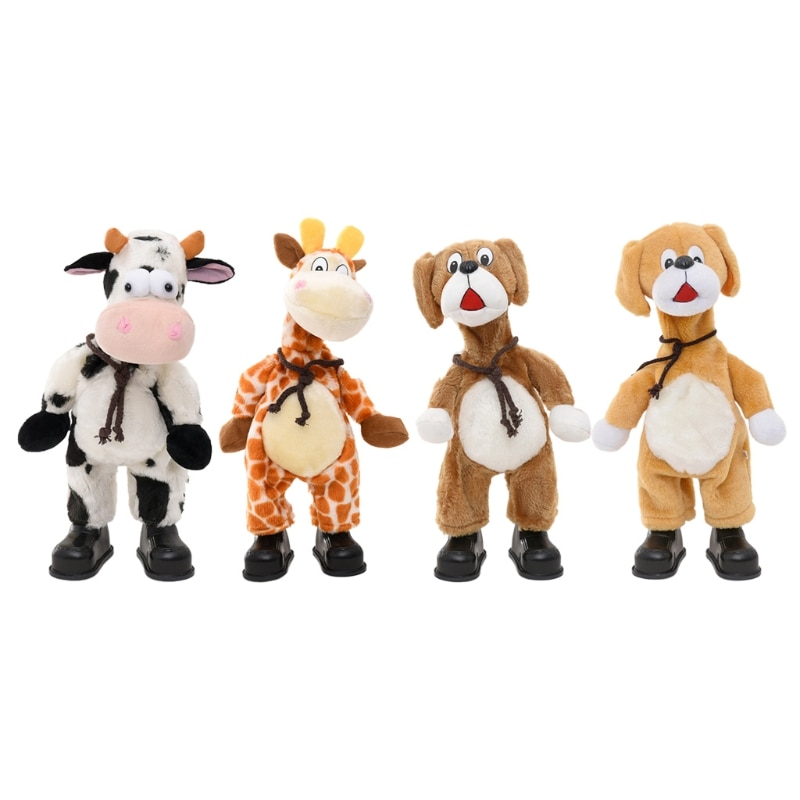 Plush Dancing Toy Interactive Doll Cow/Deer/Dog for Baby Adults Anxiety Relief popular