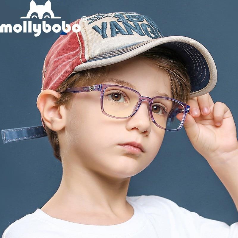 New Simple Spring Leg Children's Anti-blue Light Glasses Kids Transparent Soft Silicone Glasses