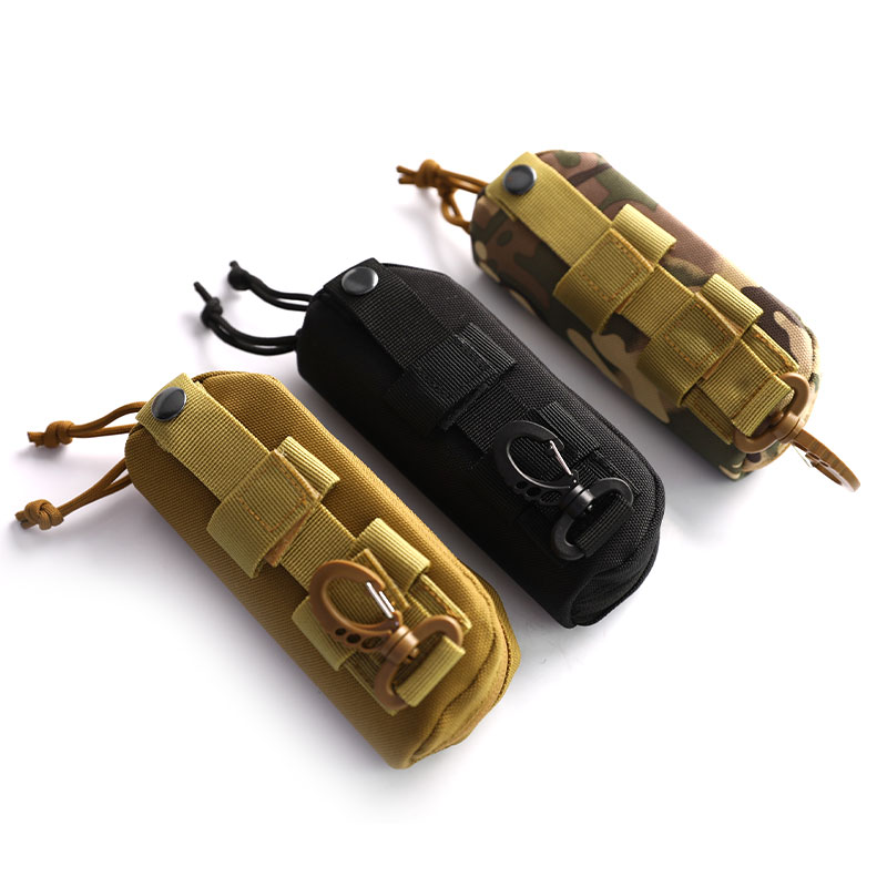 Outdoor Hunting Sunglasses Case Military Molle Pouch Goggles Storage Box Nylon Hard Eyeglasses Bag