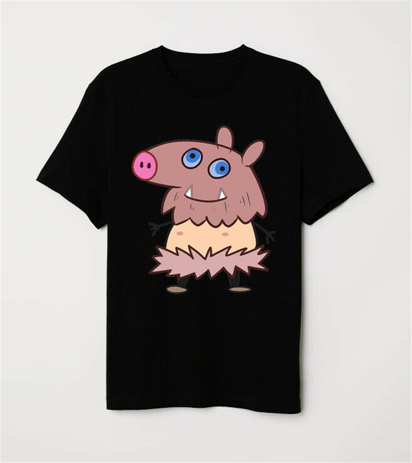Cazadora de Kimetsu No Yaiba Inosuke cerdo divertido chico Mashup camiseta negra de corte Slim camiseta de talla grande