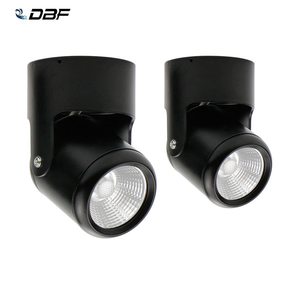 COB de alto brillo 20W 15W 10W 7W LED luces descendentes montados en superficie luz descendente LED ángulo de iluminación- controlador ajustable + AC110/220 V