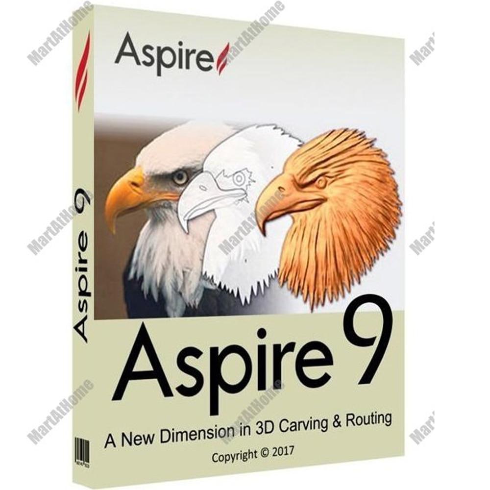 خدمة التثبيت البرمجي لـ Vectric Aspire 9.514 مدى الحياة ، برامج تصميم الإغاثة والجزء الإضافي لنظام التشغيل Windows 64bit