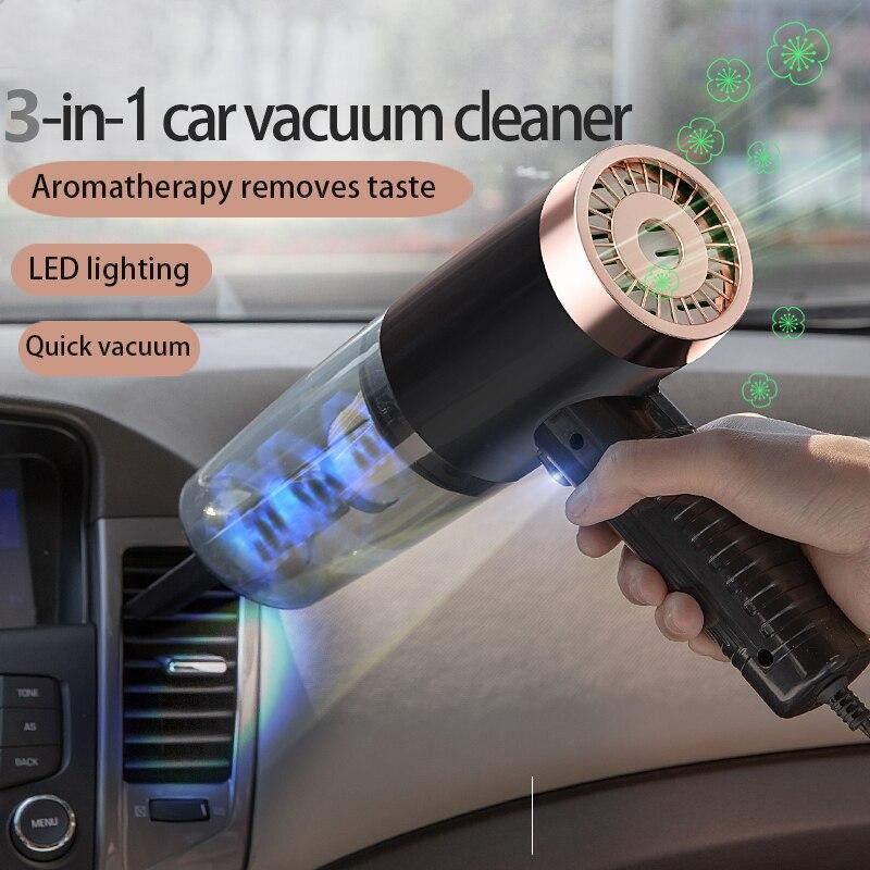 Портативный мини-пылесос Cleane, автомобильный пылесос для влажной и сухой уборки, машина двойного использования, перезаряжаемый автомобильн...