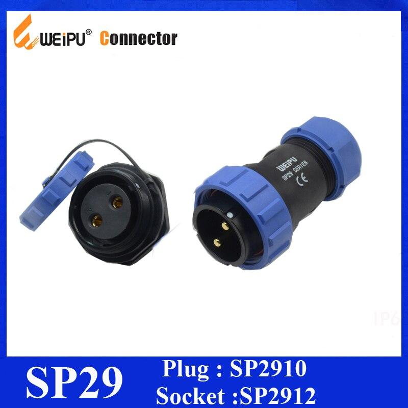 Weipu Original Conector SP29 2 3 4 7 8 9 10 12 16 17 20 24 26 Pin IP68 Circular Kit Par Masculino Plugue Fêmea Soquete SP2910 SP2912