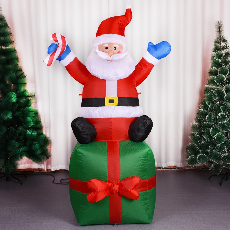 Lighted 180CM Santa Claus Archway Christmas Inflatables Self-inflate Airblown Toys Xmas Holiday Party Yard Lawn Garden Decor enlarge