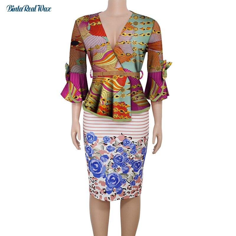 2021 معطف عاري الاكمام طويل الاكمام للنساء ملابس بازان ريتشي قطن افريقي تقليدي للنساء WY8890