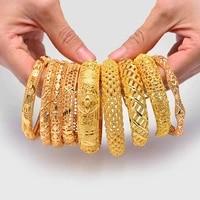 wando bangles gold color bangles bracelet women wedding bracelet jewelry african women girl bride banglesbracelets jewelry gift