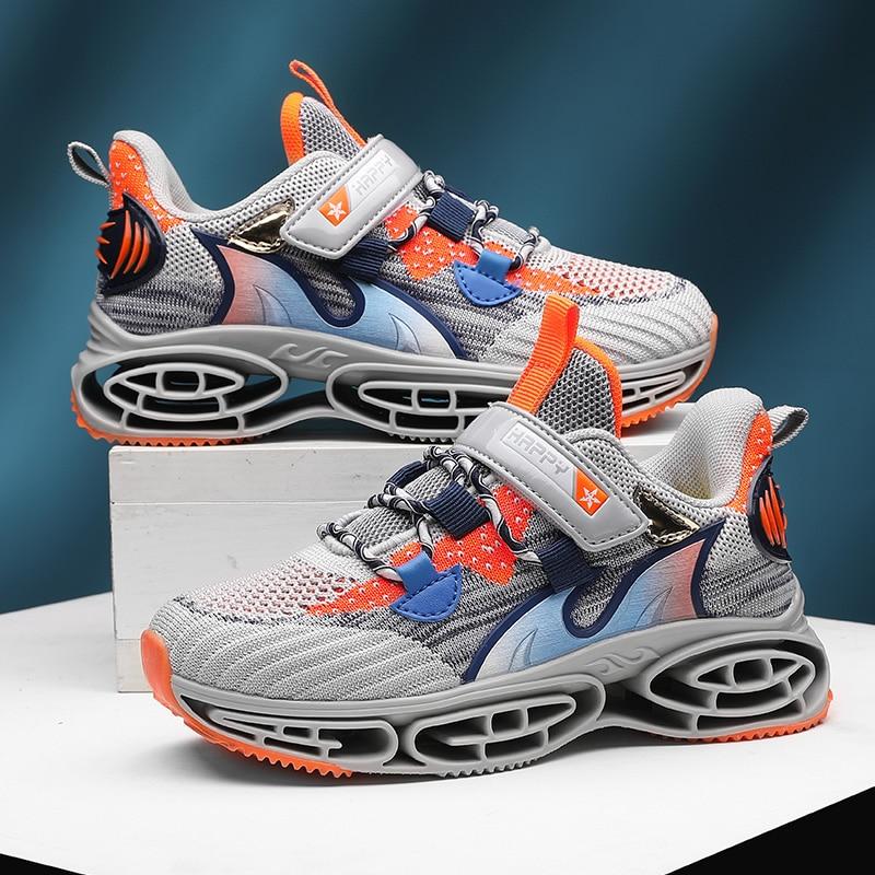 Детские Серые кроссовки для бега Нескользящие Детские спортивные кроссовки для бега удобные кроссовки для мальчиков на осень и зиму