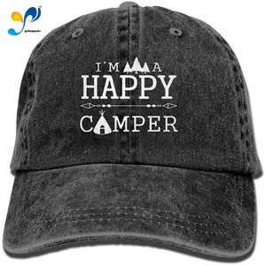 I'm A Happy Camper Baseball Hat Men and Women Summer Sun Hat Travel Sunscreen Cap Fishing Outdoors …