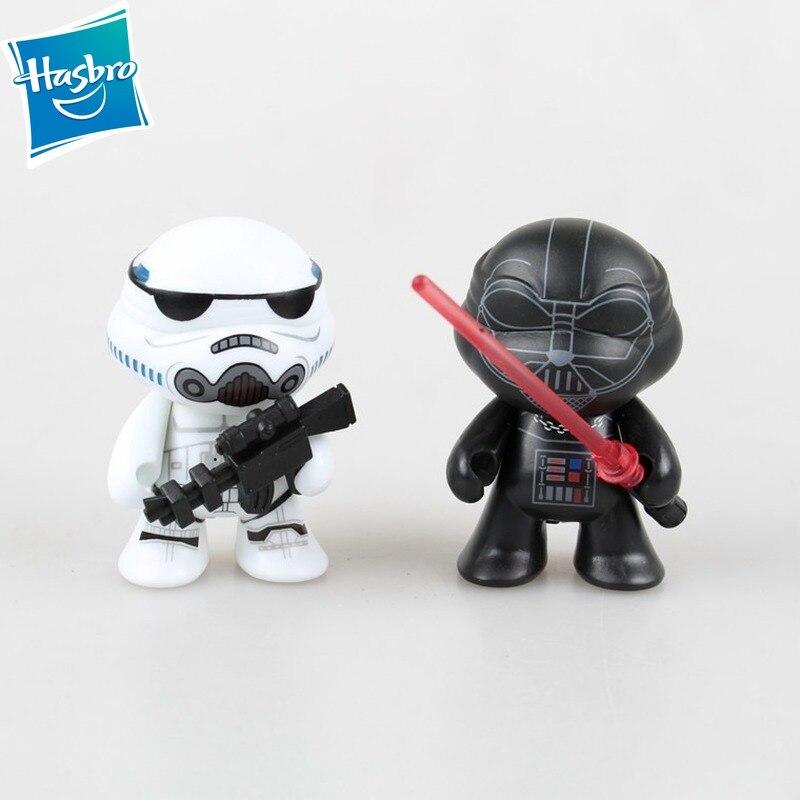 Figuras de acción de Star Wars, modelo de 2 uds. De Tortuga Ninja, Stormtrooper, Darth Vader, dibujos animados, versión Q
