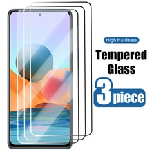 3PCS Tempered Glass for Xiaomi Redmi Note 10 9 8 7 Pro 9S 8T Screen Protector for redmi note  4x 5a 4 5 10 pro 5g phone Glass