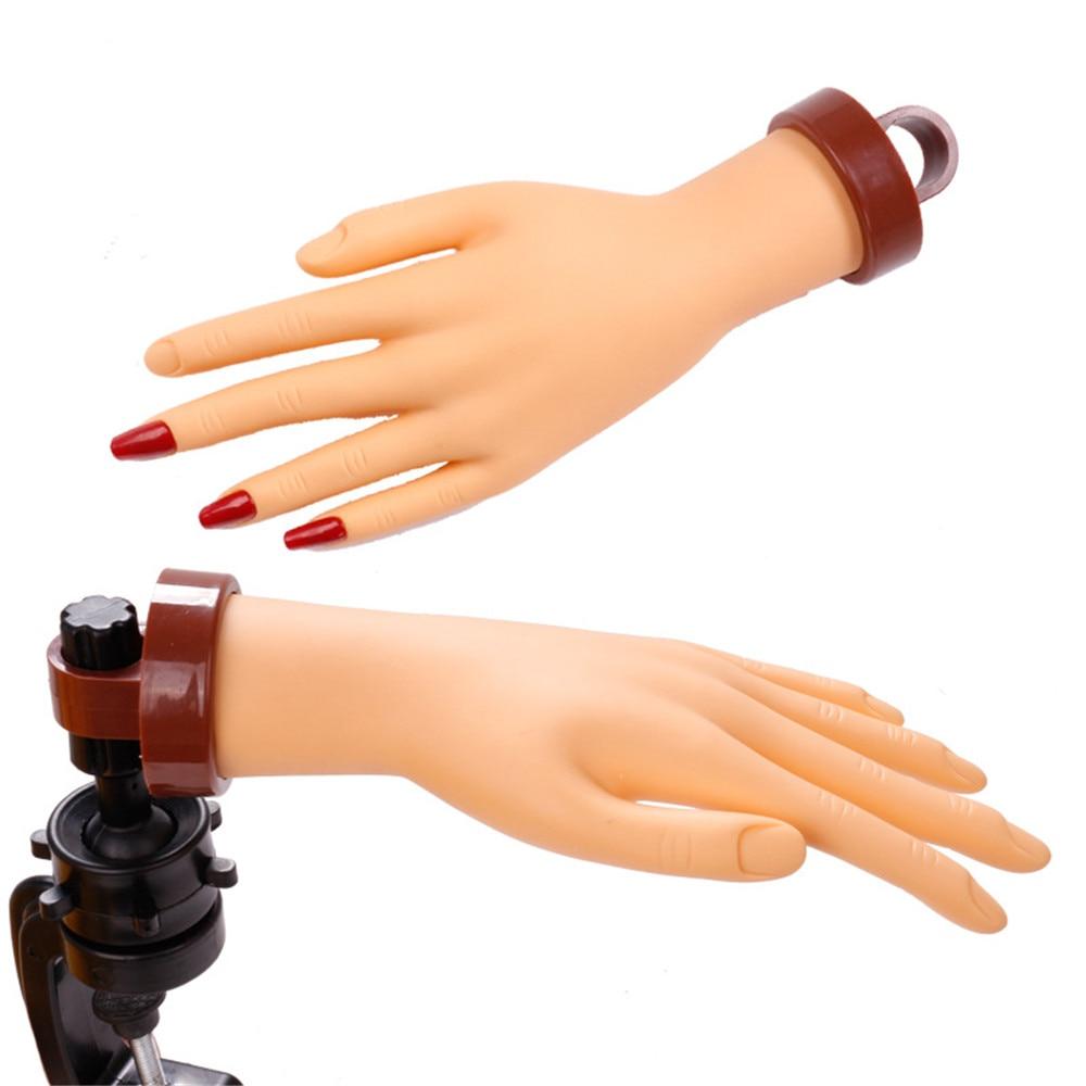 Nail TrainingPractice Nail Hand Acrylic Manicure Hand Practice Nails Hand Mannequin Hand Bend Artificial Hand Nail Training