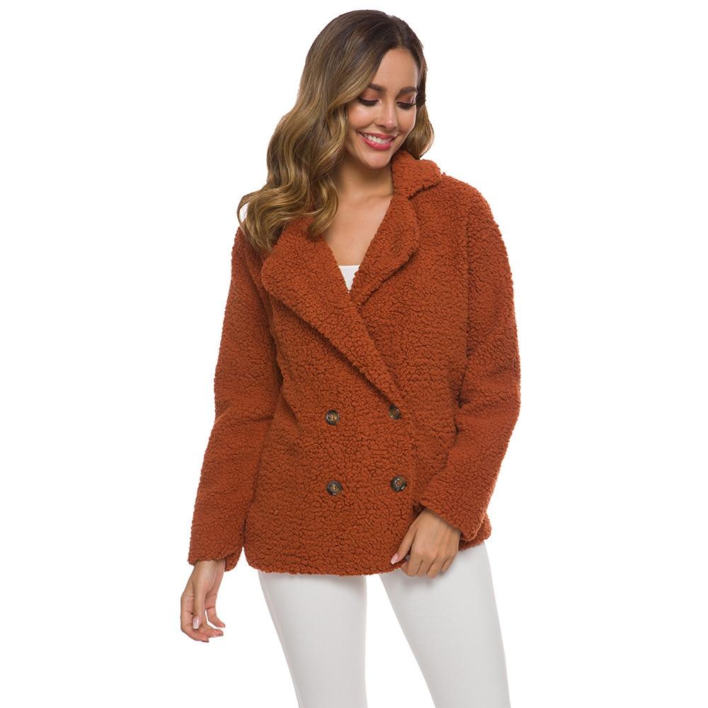 Женская куртка, теплая Повседневная зимняя и осенняя женская модная шерстяная толстовка с капюшоном, куртки, пальто, женская верхняя одежда
