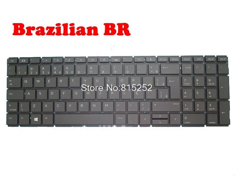كمبيوتر محمول لوحة مفاتيح إتش بي ProBook 450 G6 450 G7 455 G6 455 G7 أسود بدون إطار مع الخلفية البرازيلي BR/التشيكية CZ/الدنمارك DM/FR