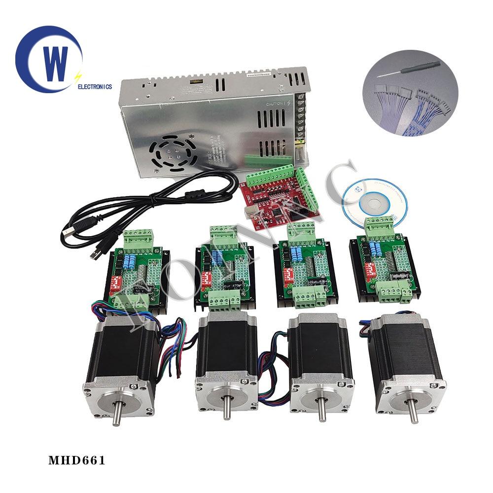 Juego de controladores CNC de 4 ejes 4 TB6600 de controlador de...