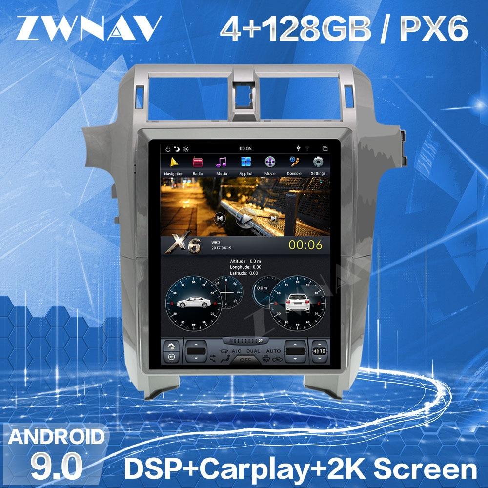 4+128G Tesla Screen Carplay For 2010-2018 2019 Lexus GX400 GX460 Android 9 Player GPS Auto Audio Stereo Radio Recorder Head Unit