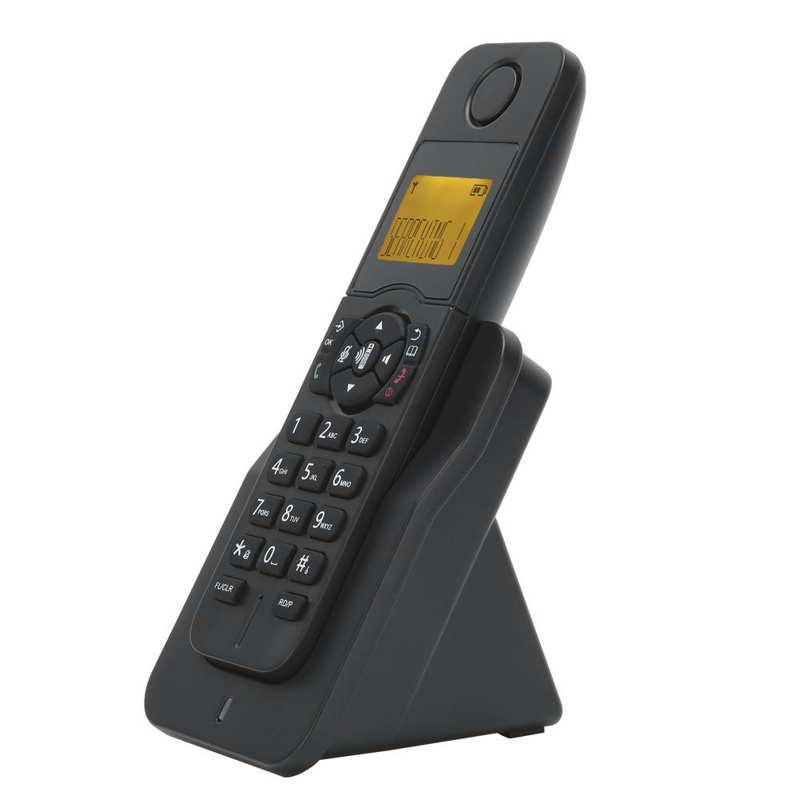 هاتف منزلي لاسلكي قابل للتمدد بدون استخدام اليدين هاتف أرضي هاتف منزلي ثابت مع رقم المتصل قابس أمريكي 100-240 فولت