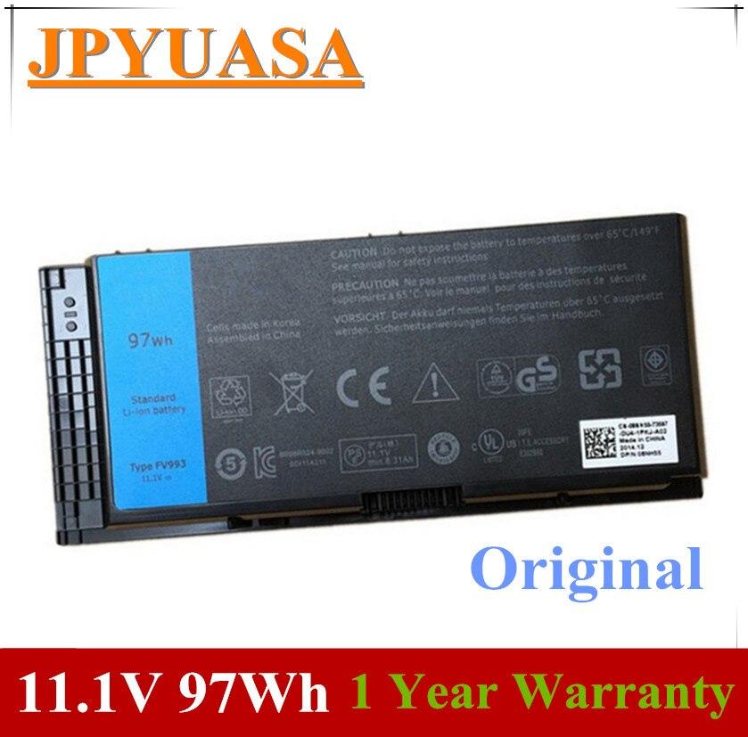 7XINbox 11,1 V 97wh Original FV993 FJJ4W PG6RC R7PND OTN1K5 batería del ordenador portátil para DELL precisión M6600 M6700 M6800 M4800 M4600 M4700