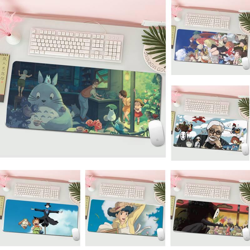 Cute Totoro Spirited Away Ghibli Miyazak Rubber PC Gaming Mousepad XL Large Gamer Keyboard PC Desk Mat Computer Tablet Mouse Pad