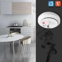 Detecteur de fumee CO Wifi pour maison intelligente  securite sans fil  capteur de monoxyde de carbone  alarme Push  fonctionne avec Tuya Smart Life
