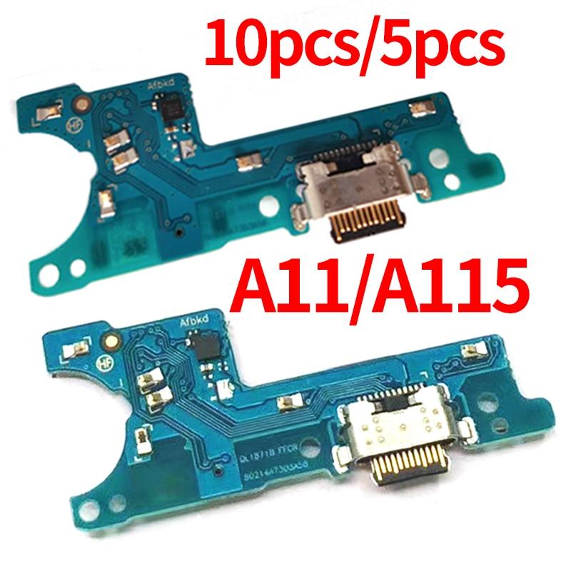 10 pces 5 pces porto de carregamento para samsung galaxy a11 sm a115f a115f usb carregador