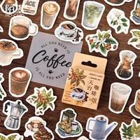 coffee bar 45pcs lot beautiful scrapbooking stickers card making diy photo album craft decoration