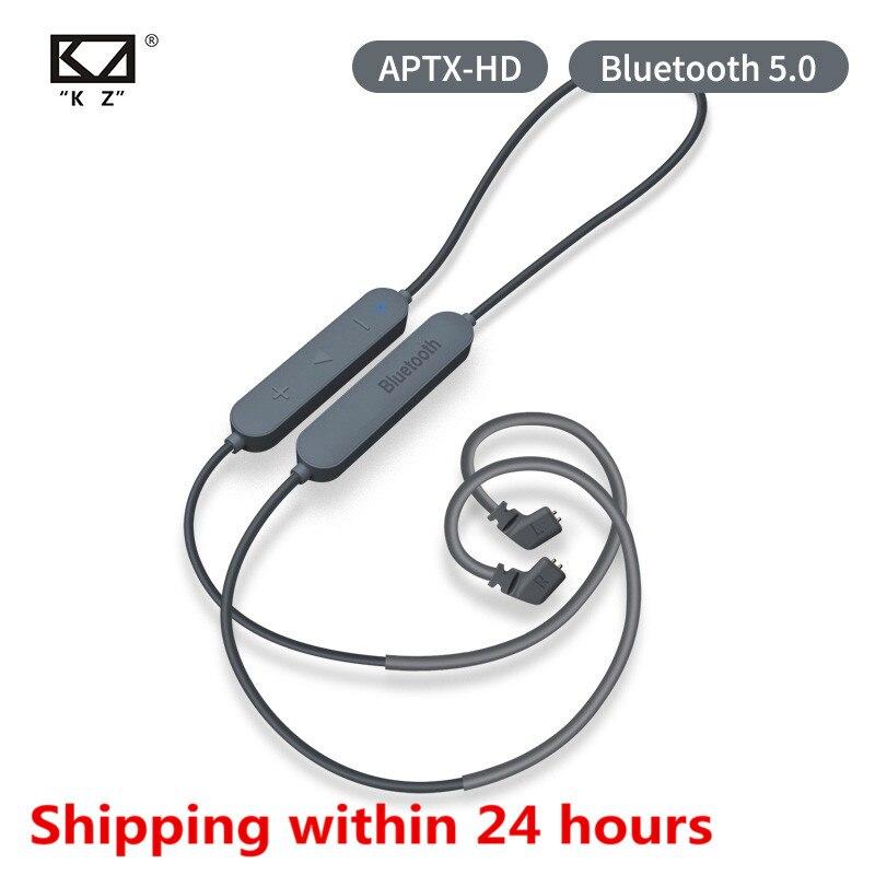 KZ Bluetooth 5,0 auricular Aptx HD CSR8675 módulo auricular Cable actualizado aplica auriculares KZ AS10 ZST ES4 ZSN ZS10 AS16 ZSX C12