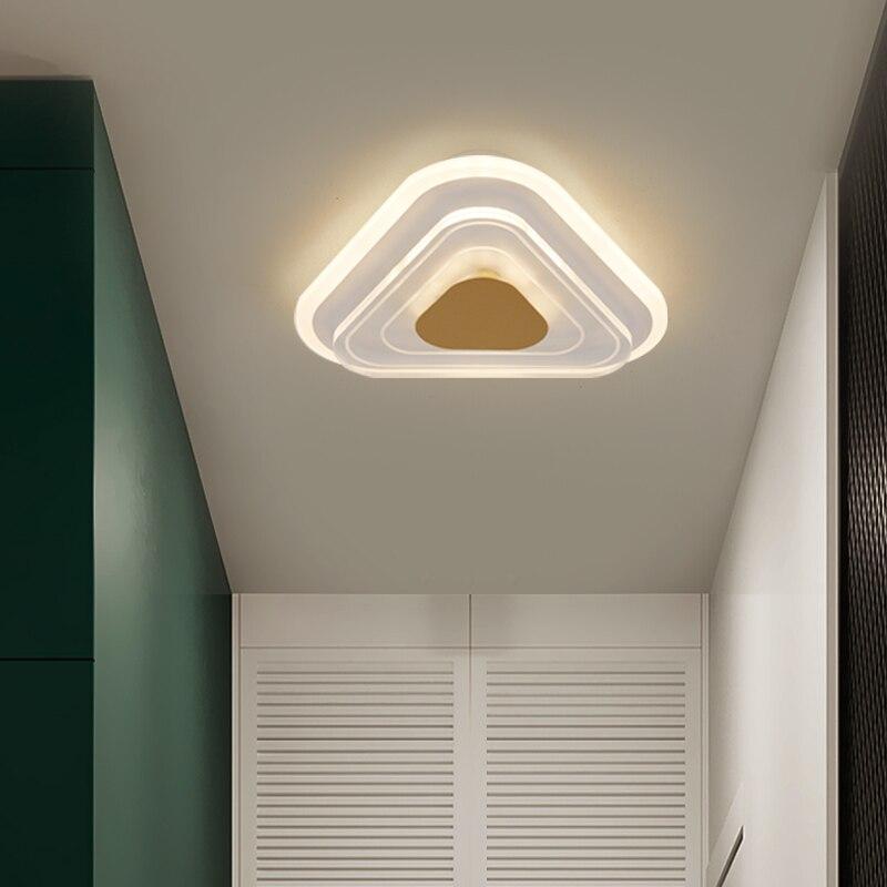 minimalista luz de teto do corredor preto branco ouro para corredor vestiario entrada