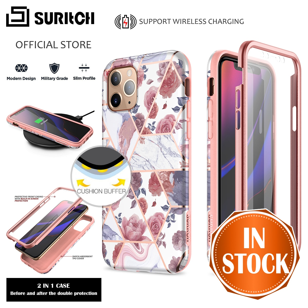 Luxury Full Protect Case For iPhone 11 Pro Max Case For iPhone 6 7 8 Plus X Xs Max XR Cover With Screen Protector 360 Capa Hard