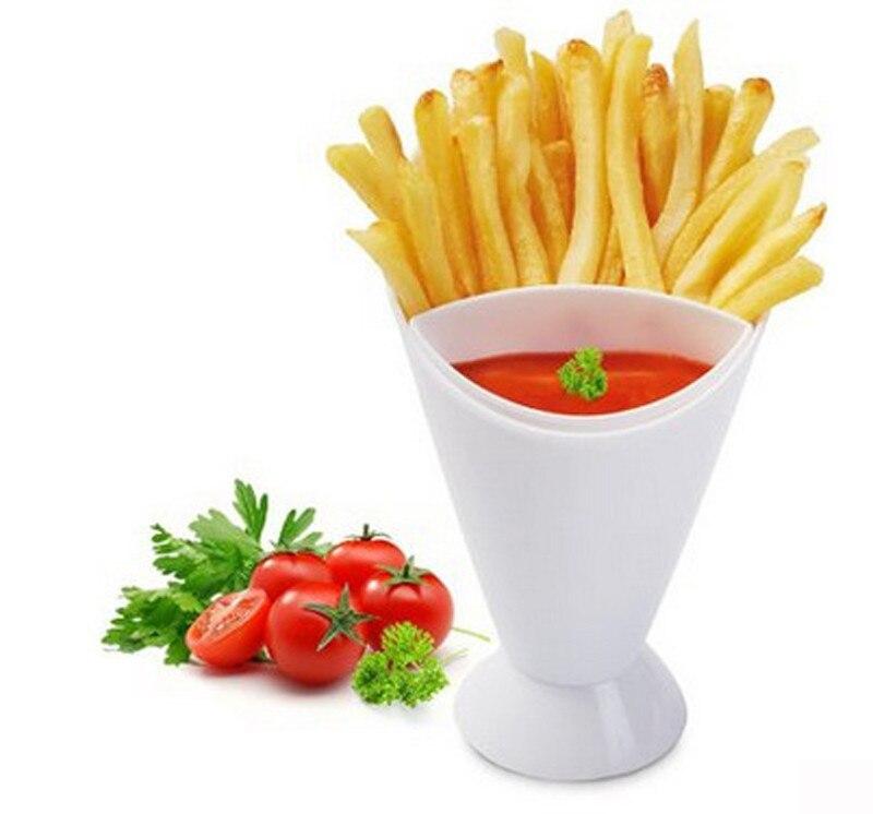 Простой и практичный домашний кухонный инструмент для картофеля посуда 2 в 1 французский конус для картошки фри с чаша для макания высокое к...