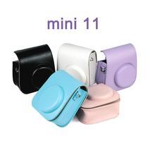 حافظة كاميرا ملونة واقية حقيبة غطاء كاميرا PU لفوجي فوجي فيلم Instax Mini 11 حقيبة كاميرا
