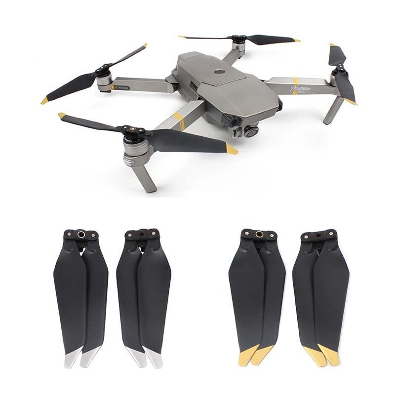 Dla DJI Mavic PRO pary śmigła rekwizyty niski poziom hałasu szybkie uwolnienie ostrza części zamienne wymiana dronów akcesoria 1/2 par