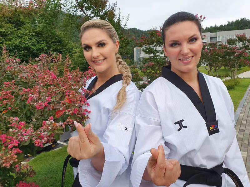 WTF Jcalicu V2 taekwondo doboks para niños adultos con cuello en V J-Calicu JC Taekwondo capacitación uniformes tamaño grande 210cm 200cm-100cm