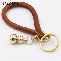 designer key chain wallet men handmade genuine leather key holder interior car keyrings metal leather car keychain ring