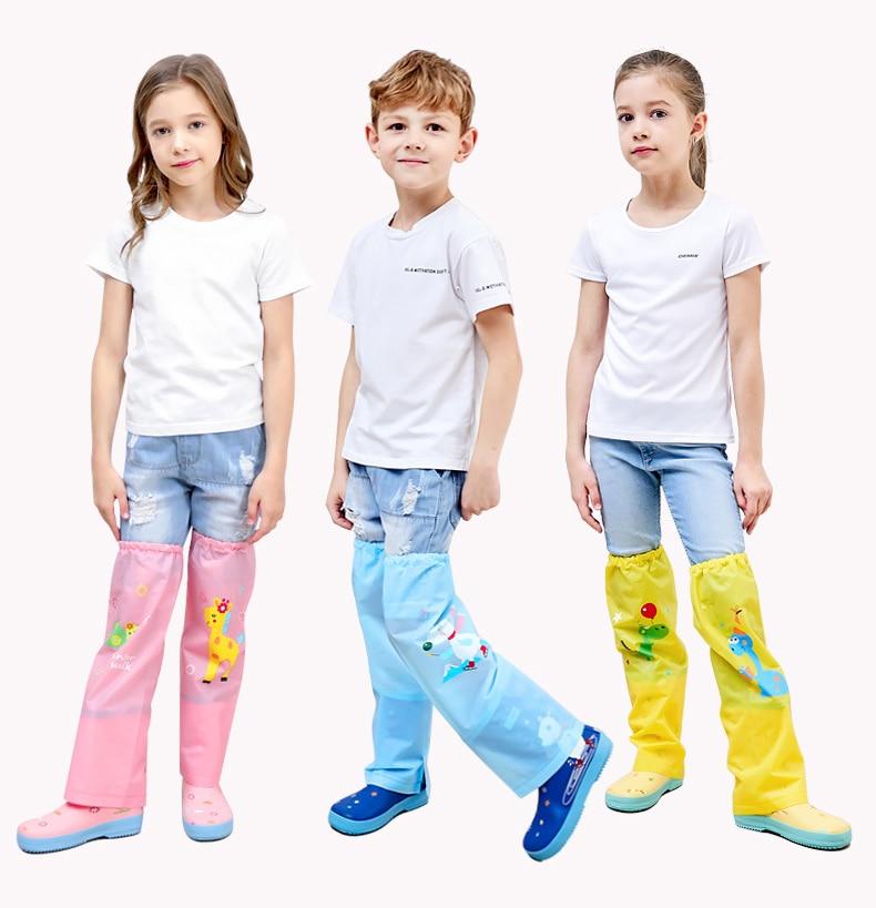 Los niños a prueba De lluvia pantalones abrigo De lluvia Chuva Poncho Impermeable pantalones De lluvia Regenjacke De la cubierta del traje De la Capa De Chuva Jas Hujan Chubasquero