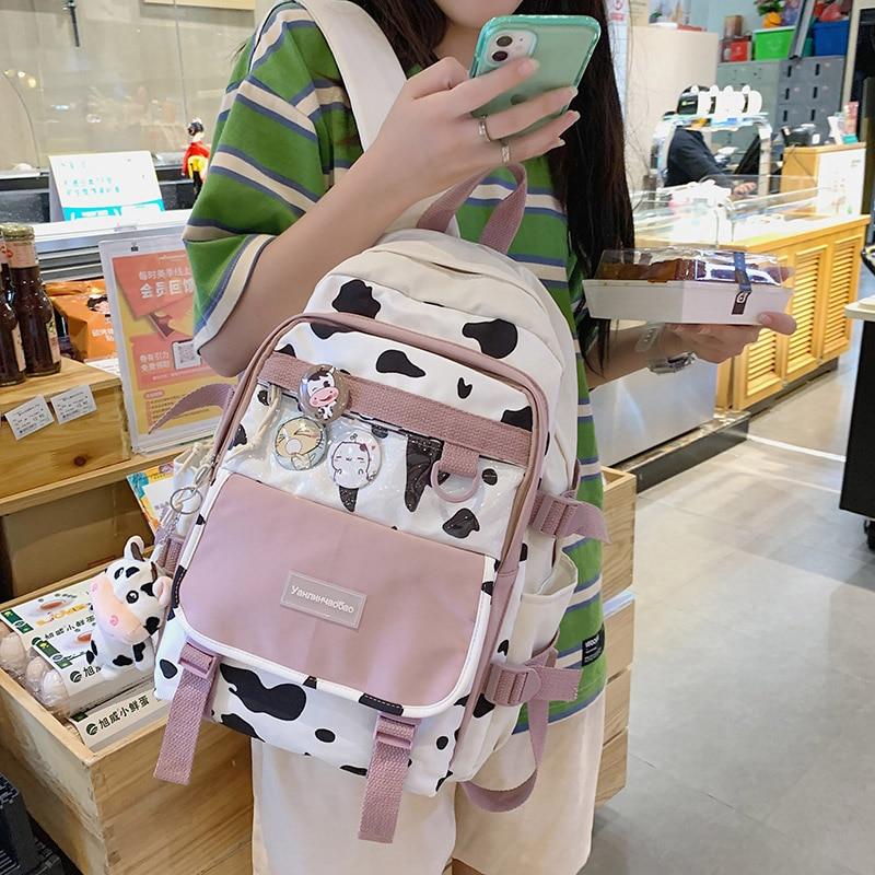 HOCODO Large Capacity Backpack Women Nylon School Bag For Teenager College Anti-Theft Laptop Bag Fem