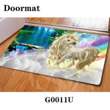 Free Shipping Custom Amazing scenery DoorMat Art Design Pattern Printed Carpet Floor Hall Bedroom Cool Pad Fashion Rug SQ0603-56
