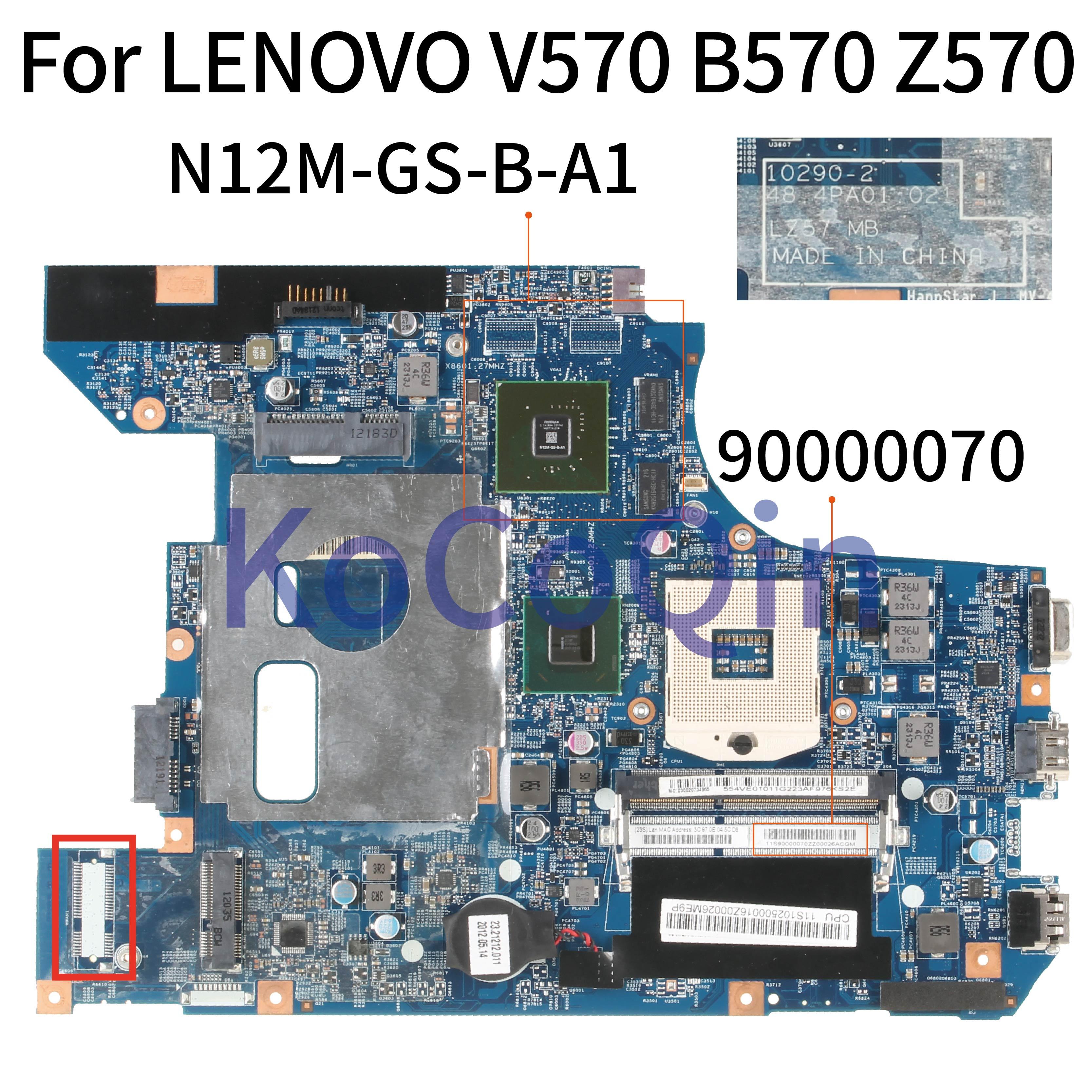 KoCoQin اللوحة المحمول لينوفو B570 B570E HM65 اللوحة 90000070 10290-2 48.4PA01.021 LZ57 N12M-GS-B-A1