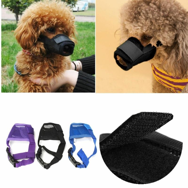 Dog Muzzle Anti Stop Bite Barking Chewing Mesh Mask Training Small Large S-XL