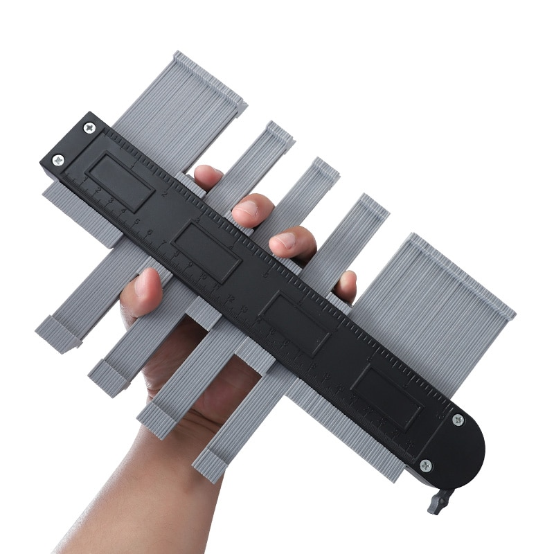 Medidor de contorno de 10 pulgadas con núcleo de aluminio de bloqueo medidor de perfil de 133mm de ancho para medición de copias de formas